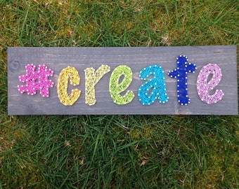 MADE TO ORDER- #create String Art- Create- Nail Art- Rainbow letters