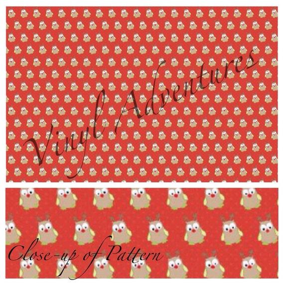 Heat Transfer Vinyl Christmas Holiday Owl Pattern Htv 1