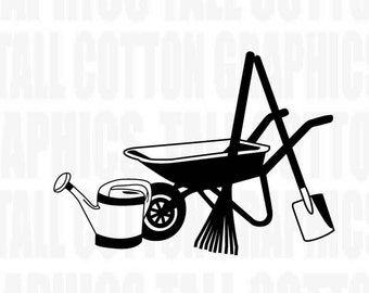 Gardener Landscaping Tools Vinyl Decal - #JB009