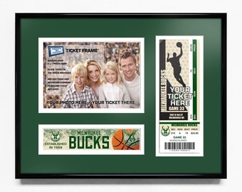Milwaukee Bucks 5x7 Photo and Ticket Frame - Team Logo / My First Game