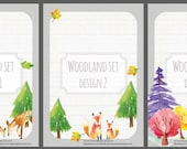 Woodland set - 10 different designs - lined and unlined