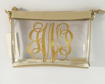 Stadium Approved Clear Cross Body Purse - Large