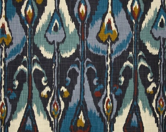 Pillow Cover, Designer Pillow Cover, BOTH SIDES, Robert Allen Ikat Indigo