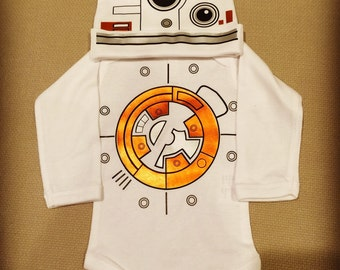 POPULAR Droid BODYSUIT and HAT! Short and Long Sleeve available