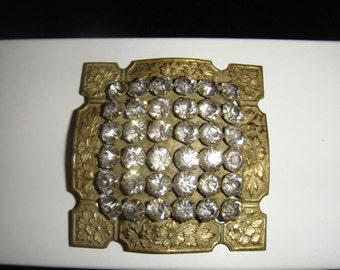 Antique Rhinestone/Paste Large Button or Ornament