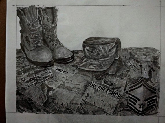 Custom graphite portrait drawing from your photo. Military Special! Military in uniform get 50% off of your order! Free shipping always