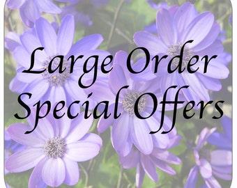Flower Coasters, large orders