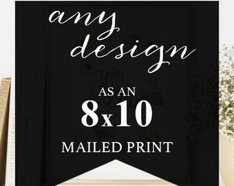 Little Kit Design -print and mail my design! 8x10