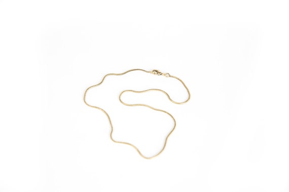 """Brass Snake Chain Brass Necklace 16"""" 18"""" 20"""" 22"""" 24"""" 26"""" 28"""" 30"""" 36"""" Thin Brass Chain  Free UK Delivery"""