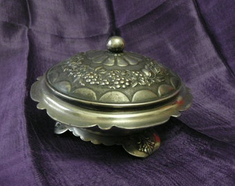 NEW! Vintage Sugar-bowl,Hand made from German silver
