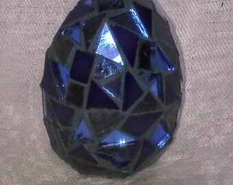 Blue Mosaic Egg
