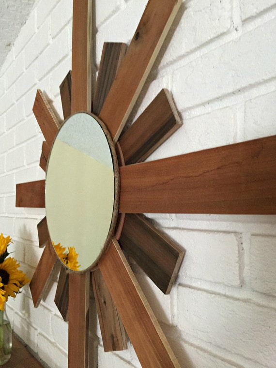 Large wall mirror round mirror decorative mirror rustic for Large round decorative mirror