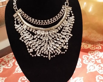 Chunky Gold & Crystal Necklace