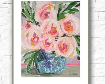 Flowers Print paper Modern 11x14