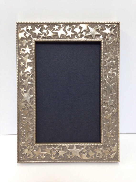 star picture frame silver 3x5 4x6 5x7 8x10 11x14 16x20 hollywood picture frame patriotic. Black Bedroom Furniture Sets. Home Design Ideas