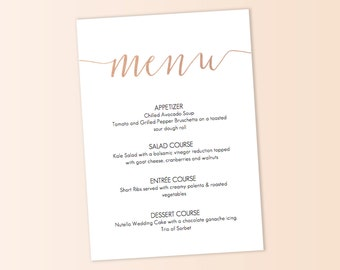 Succulent Menu Template / Calligraphy font / by GraceDesignsDIY