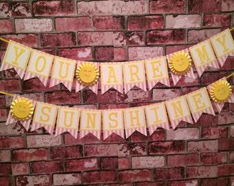 Handmade You Are My Sunshine banner!