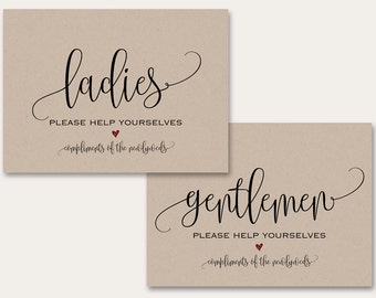 Wedding Bathroom Kit Sign women s bathroom sign printable