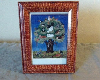 Picture frame vinegar painted in sienna