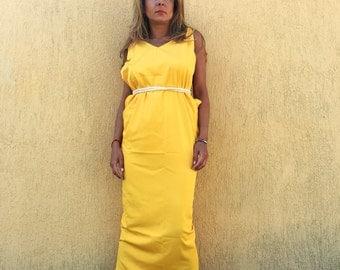 Dress/yellow dress/everyday dress/beach dress/party dress/evening dress