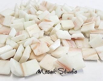 White Gold Thread Tiles 10x10x4mm x100pc