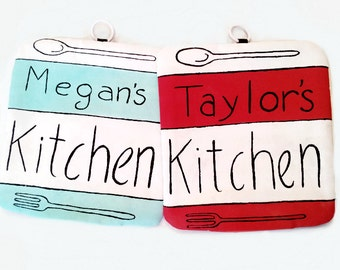 Personalized Kitchen Potholder - Personalized Gift -