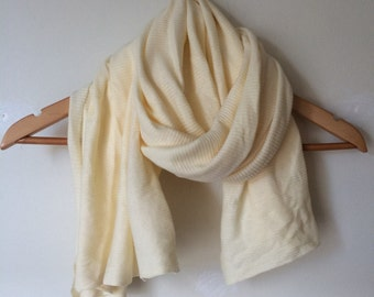 Buttercup yellow cotton scarf