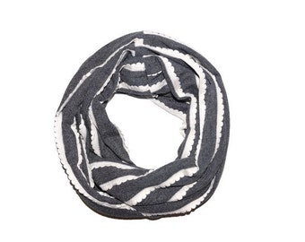 Gray infinity scarf, infant, toddler, adult scarf