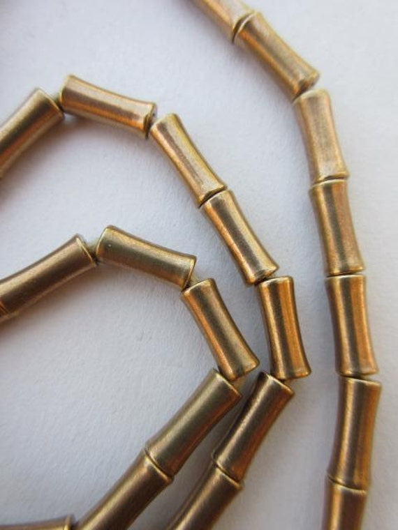 Brass spacer beads metal tube bead