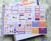 Purple People Eater Personal Foldout! One tri-folded sheet, for your personal ring bound planner, Kikki K, Filofax, Kate Spade, Color Crush