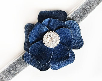 Headband Jeans for baby and girl hand made