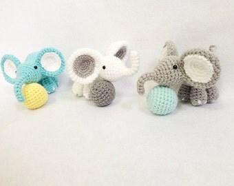 Cute Elephant gang Amigurumi, nursery decor, Elephant amigurumi, Crochet Elephant, Handmade crochet animal, decor, gift, toys