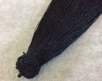 "6"" Knot Capped Black Silk/Polyester Thread Tassel - Measuring 18mm x 150mm, Approx. - 30+ Colors Available, See Related Items Link!"