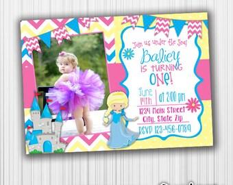 Princess Birthday Invitation / Printable Invitation / custom Invitation / Photo Card / Announcement
