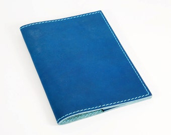 Passport Cover, Leather Passport Cover, Horween Leather Passport Cover, Blue Passport Cover, Personalized Passport Cover