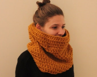 Tall and Cozy Crochet Cowl