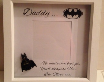 Batman daddy photoframe with batman piece
