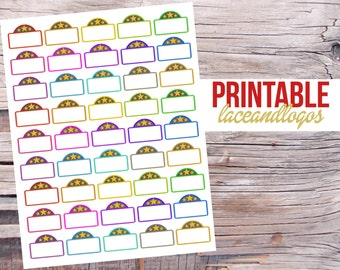 printable planner stickers 52 week saving challenge money