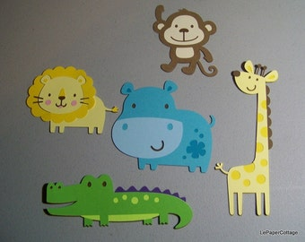 Safari animal die cuts