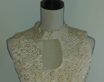 Vintage Gold Brocade Gown.