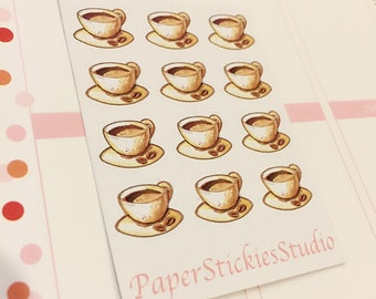 Coffee Cup Life Planner Stickers (9)
