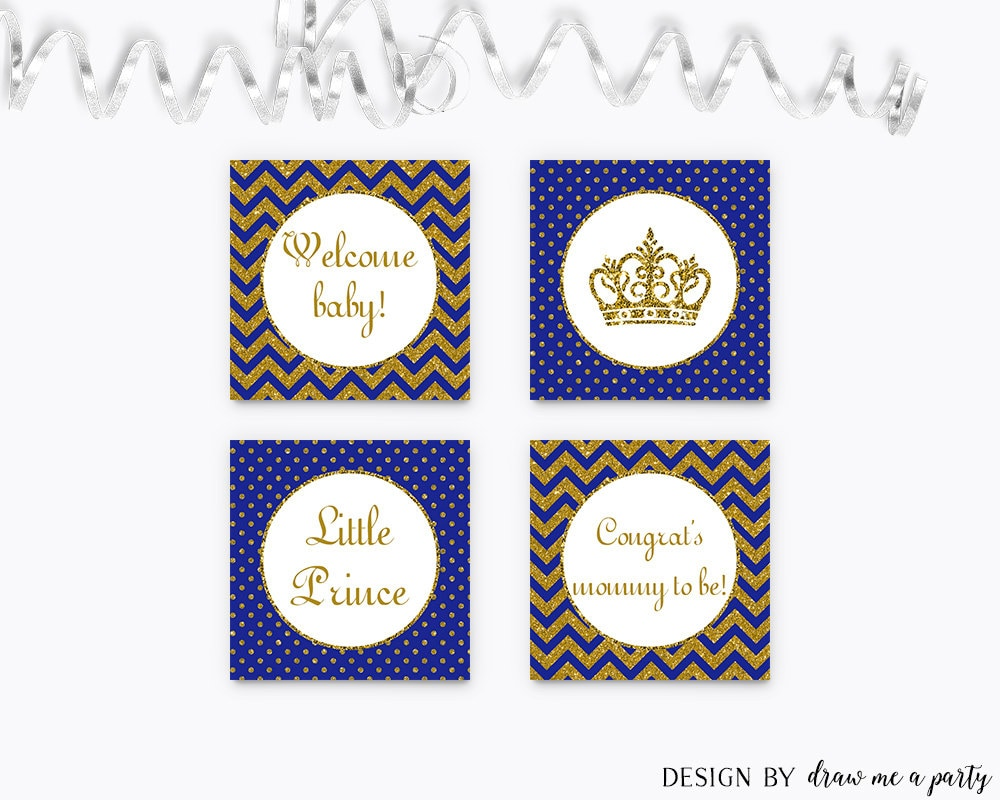 prince baby shower decorations royal blue baby by drawmeaparty