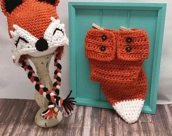Crochet Fox Photo Prop Set
