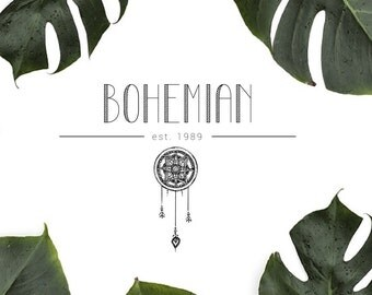 Bohemian Craft Premade Logo | Logo Design | Logo Template