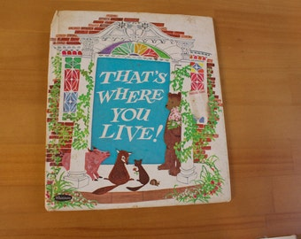 Vintage 1970 That's Where You LIve! Tell-A-Tale Children's Book