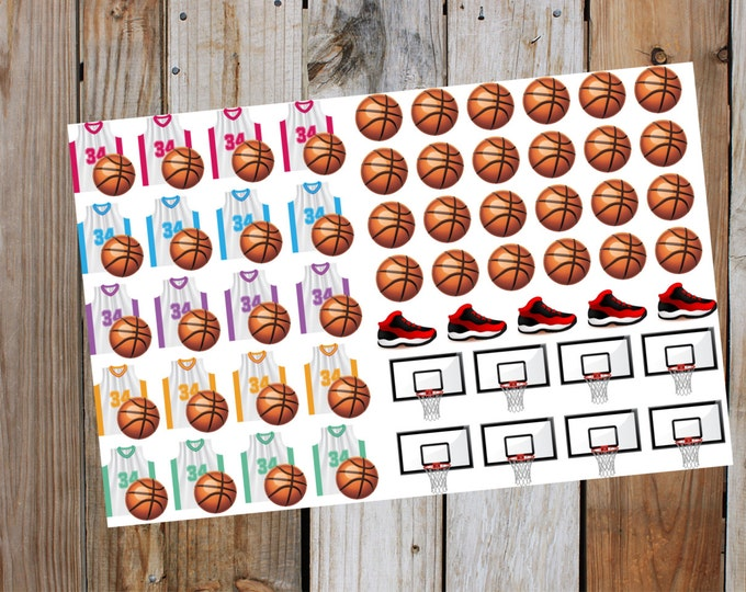 Basketball, Game Day, Planner Stickers