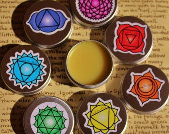 7 Chakra opening solid perfume set, Solid Perfume scent