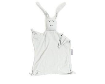 Lovey Blanket, Baby Blankie, Organic Lovey, Light Grey Security Blanket Baby Shower Gift