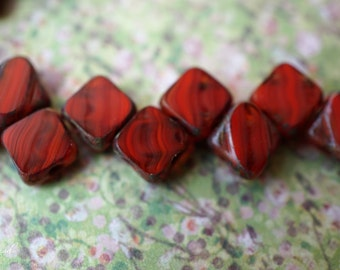 Vintage Red, Czech Beads, N2020