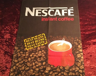 Nescafe Teatowel 1980's Vintage